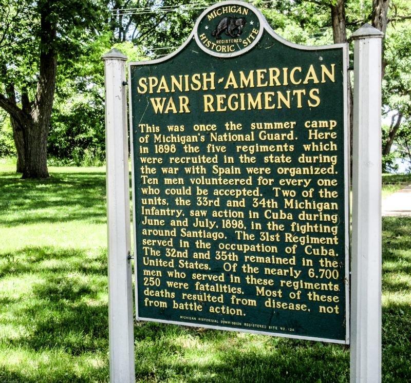 Spanish American War marker at Island Lake (2 of 3)